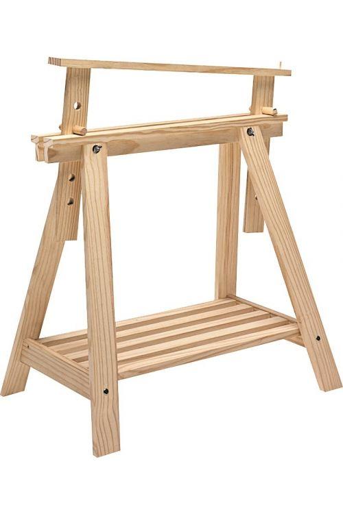 Lesena koza Arhitekt (višina 70 cm, bor, naravni, nosilnost 400 kg ob uporabi dveh koz)