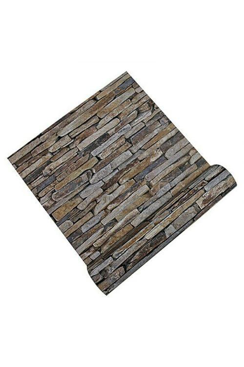 Tapeta iz netkane tekstilije AS CREATION Wood-n-Stone (bež-rjava-siva barva, videz kamenja)
