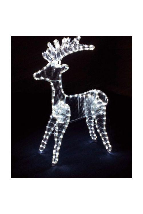 Jelenček z LED svetlečo cevjo (bela, 85 cm)
