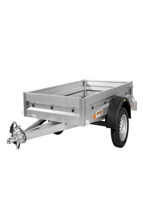 Avtomobilska prikolica PRATIK N7-202' (notranje mere: 202 x 114 x 30 cm, nosilnost: do 633 kg)