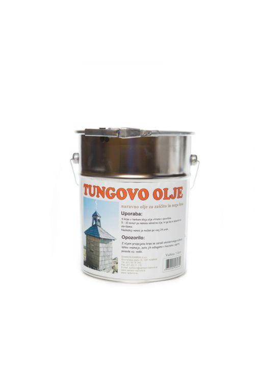 Tungovo olje  (5 l, za zaščito lesa, ki stoji na prostem, za premazovanje kuhinjskih pultov, lesenih površin v kopalnicah, parketa in drugi lesenih talnih oblog, lesenih skled, otroških igral in igrač)_2