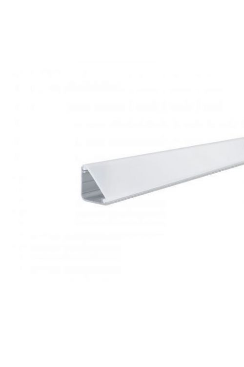 PROFIL DIFFUSOR DELTA (2 m, višina 2 cm, širina 2 cm, aluminiju, bela)