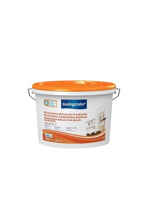 SILIKATNA FASADNA BARVA SWINGCOLOR  (10 l, mineralna barva, odporna na vremenske vplive, dobro pokrivna, odporna na obrabo, preprečuje nastanek gliv in bakterij, mat bela)