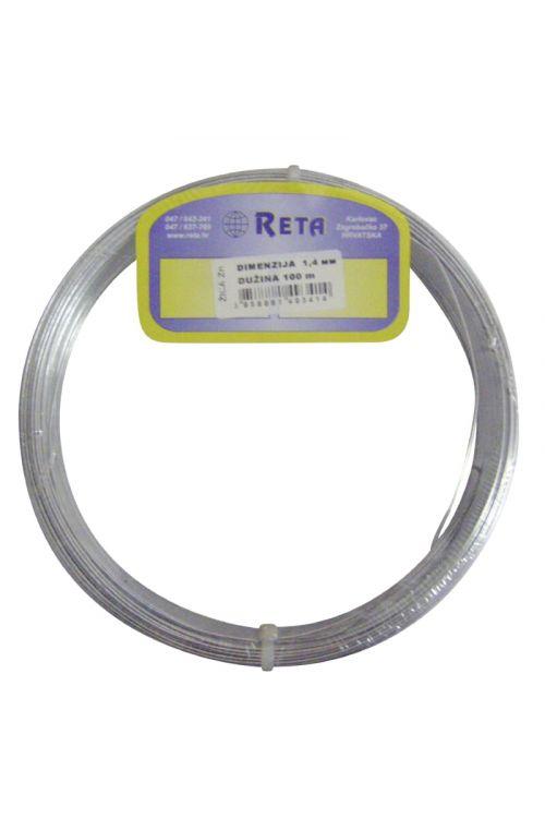Napenjalna žica Reta (100 m, deb. žice: 3,2 mm, zelene barve)