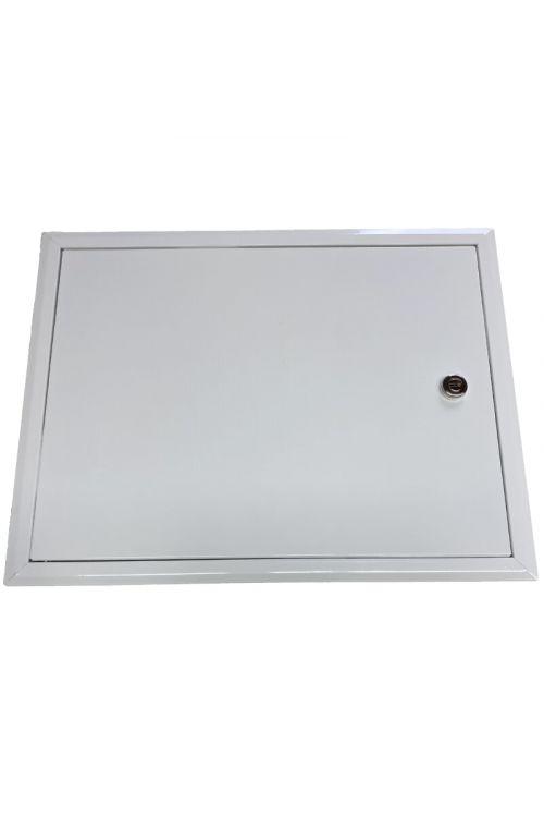 Revizijska vrata za vodomere (400 x 500 mm, pocinkana pločevina, bele barve)