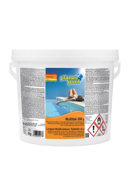 Klorove tablete z algicidom in flokulantom Multitab (za dezinfekcijo, zatiranje alg, bistrenje bazenske vode, 5 kg)