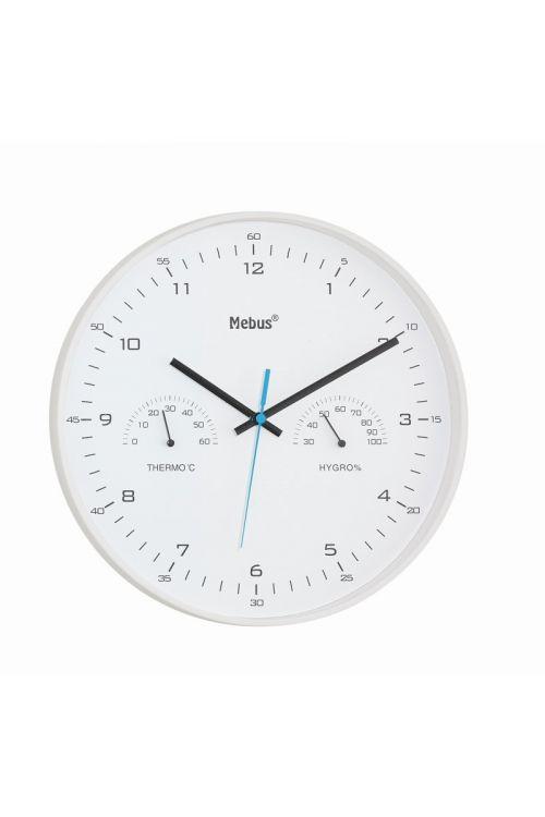 Stenska ura s termometrom in hidrometrom MEBUS (premer: 30 cm)