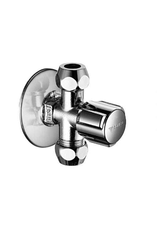 """Krogelni kotni ventil Schell Comfort (1/2"""" - 3/8"""" - 3/8"""", dvojni, ASAG easy sistem, krom)"""