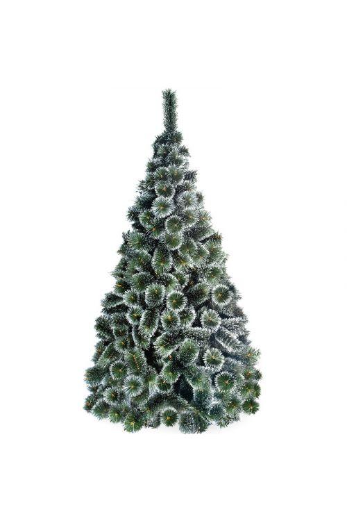 Umetno božično drevo White Tops (PVC, zeleno, z imitacijo zanseženih konic, 150 cm)