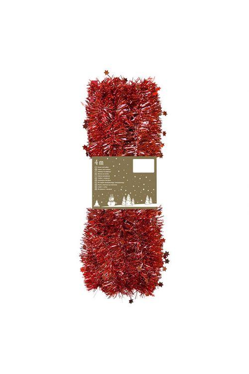 Girlanda z zvezdicami (dolžina: 4 m, rdeče barve)