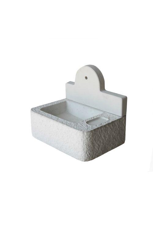 Vrtno betonsko korito (54,35 x 80 x 68 cm, beli cement)