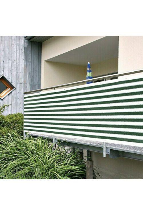 Balkonska zastirka Gardol (5 x 0,9 m, zeleno-bela)