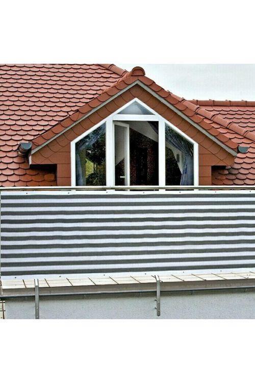 Balkonska zastirka Gardol (5 x 0,9 m, sivo-bela)