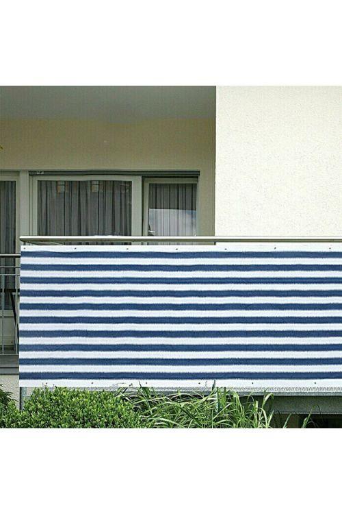 Balkonska zastirka Gardol (5 x 0,9 m, modro-bela)