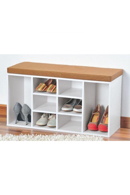 Omara za čevlje z blazino za sedenje (103,5x 29,5 x 48 cm, bela)