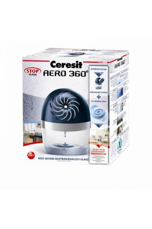 Odstranjevalec vlage Ceresit STOP vlagi AERO 360° set (barva: črna, 450 g)