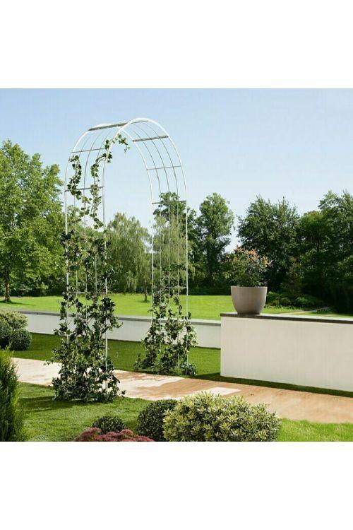 Obok za vrtnice Gardol (40 x 140 x 244 cm, srebrn)