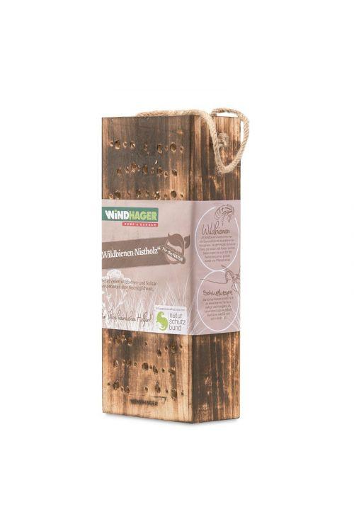 Gnezdilnica za čebele samotarke Windhager (lesena, bež/rjava)