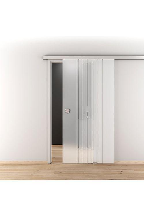 Steklena drsna vrata 2.0 Diamond Doors (kaljeno varnostno steklo (ESG), 935 x 2058 mm))