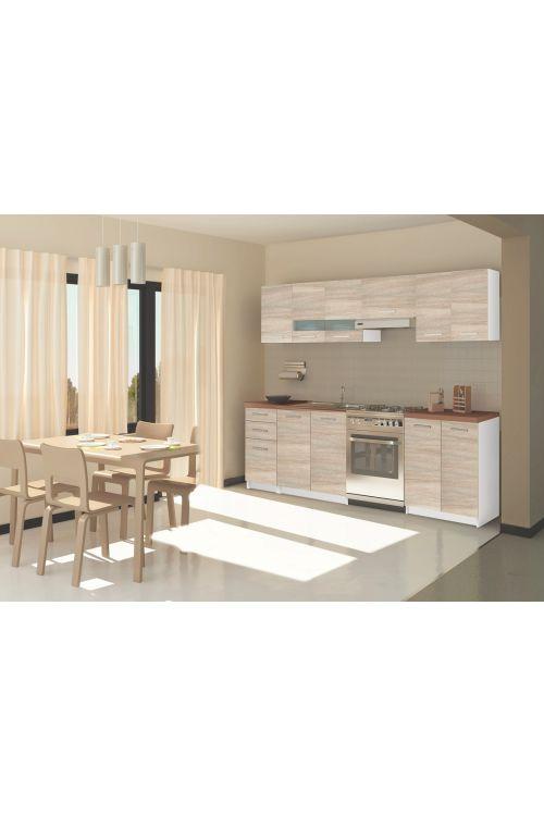 Kuhinja Romantica  (240 cm, brez aparatov, hrast/bela)
