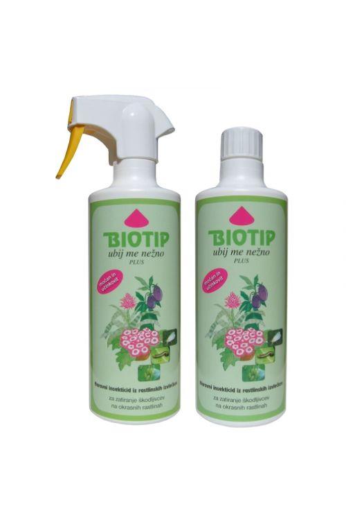 Insekticid Biotip ubij me nežno (500 ml, rastlinskega izvora, za zatiranje listnih uši in resarjev na okrasnih rastlinah, kratka karenca)