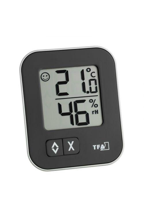 """Termometer-higrometer TFA """"Mox"""" (digitalni, 6,9 cm, črni)"""
