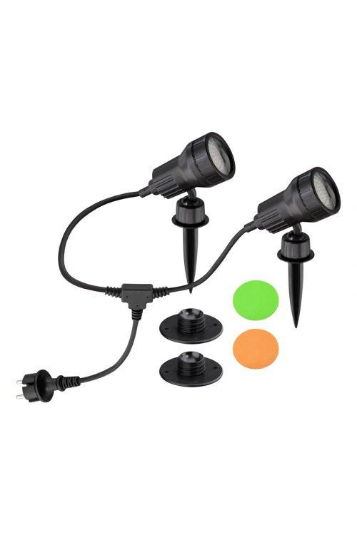 LED vrtna svetilka Starlux (z oranžnim in zelenim filtrom, 2x3W)