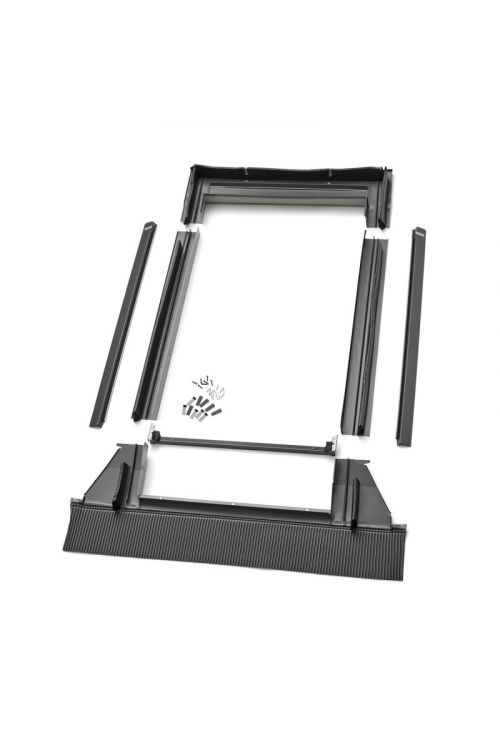 Obroba za strešno okno Velux EDW MK06 (780 x 1180 mm, aluminij, temno siva)