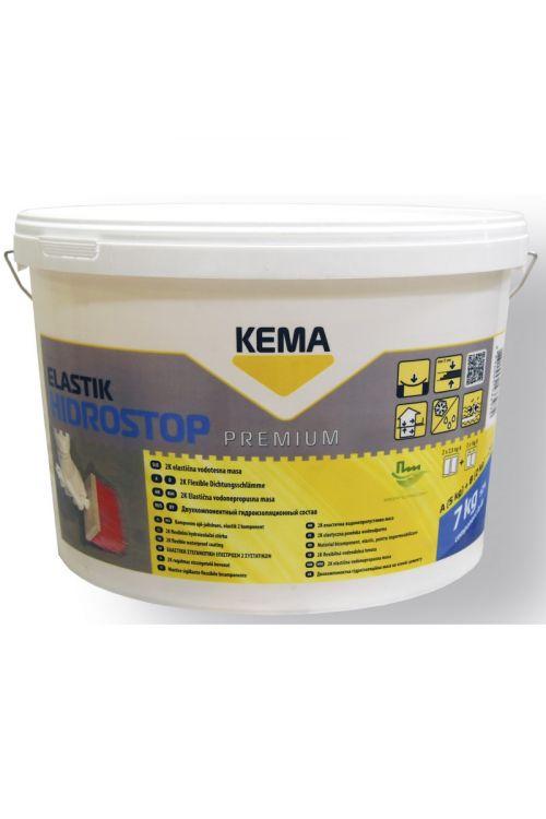 Elastična vodotesna masa KEMA Hidrostop elastik (za notranjo in zunanjo uporabo, 5+2 kg)