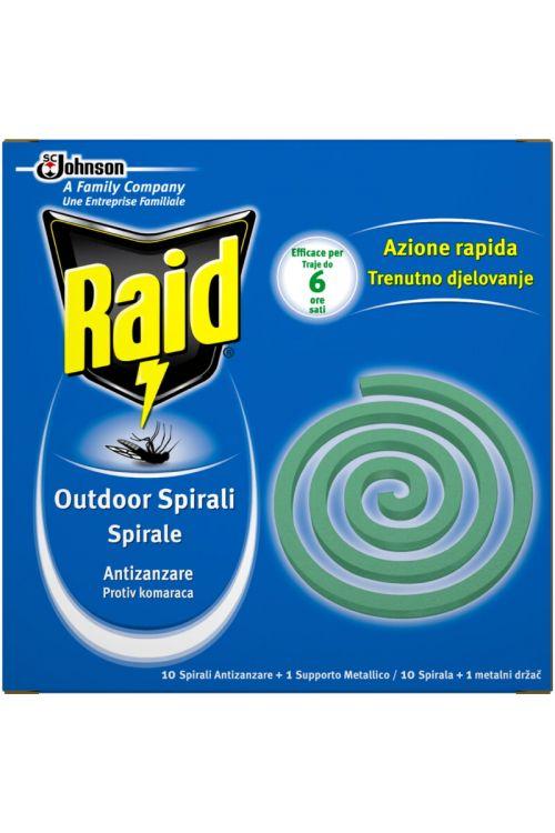 Spirale za odganjanje komarjev Raid (10 spiral + kovinski nosilec)