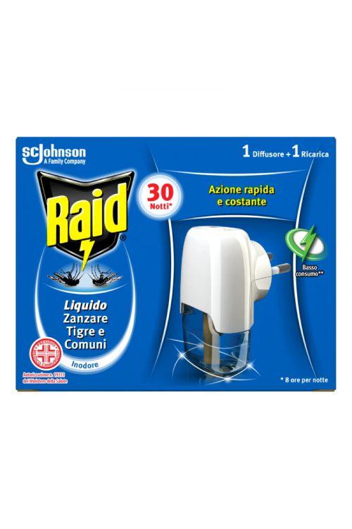 Odganjalec komarjev Raid Silver Liquido (21 ml, s tekočim insekticidom, brez vonja)