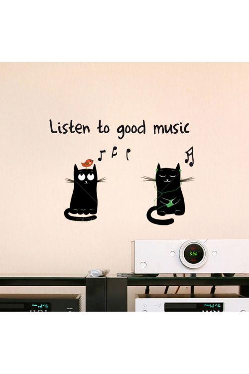 "Dekorativna nalepka ""Listen to good music"" (15 cm x 31 cm)"