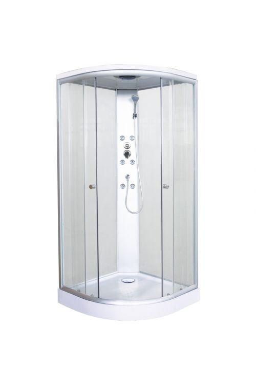 Masažna tuš kabina Punta (90 x 90 x 210 cm, steklo 4 mm)