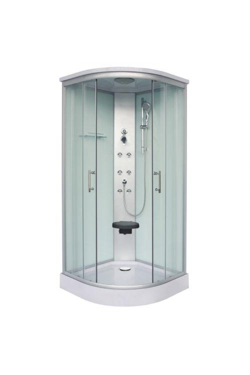 Masažna tuš kabina Rumba (90 x 90 x 215 cm, steklo 5 mm)