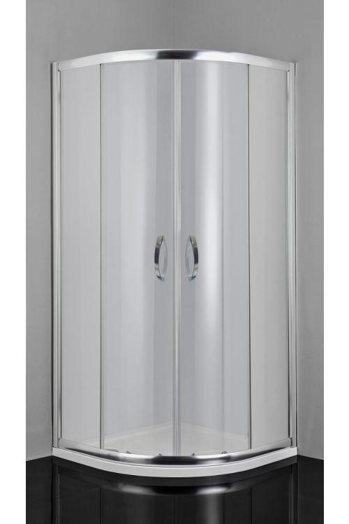 Polkrožna tuš kabina Rio (80 x 80 x 190 cm, srebrni profili, steklo: 5 mm)