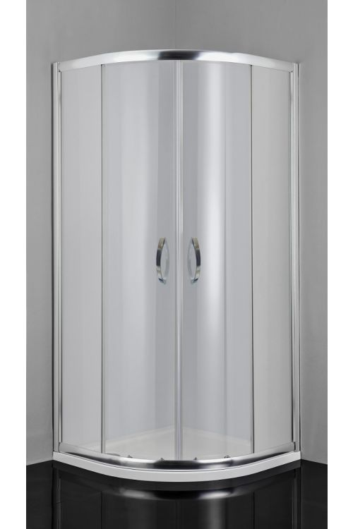 Polkrožna tuš kabina Rio (90 x 90 x 190 cm, srebrni profili, steklo: 5 mm)