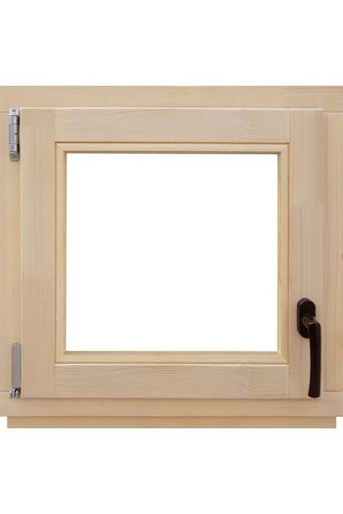 Okno Optimum (600 x 600 mm, leseno, levo)