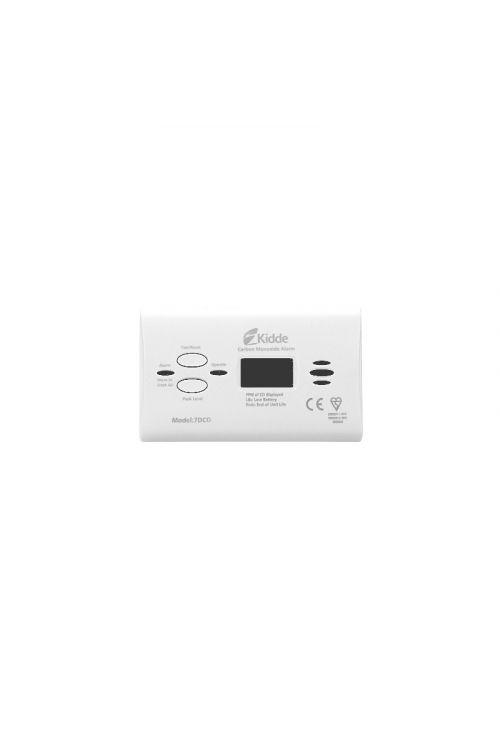Detektor ogljikovega monoksida KIDDE 7DCO (118 x 70 x 40 mm, 3 x 1,5 V AA, 85 dB, garancija: 10 let, digitalni prikazovalnik)