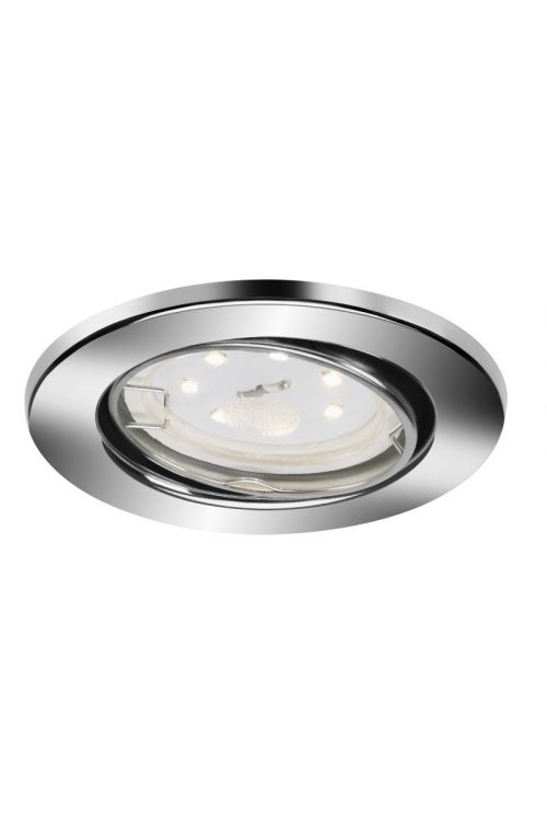 SET LED VGRADNIH REFLEKTORJEV  (3 x 3 W, GU10, 3.000 K, premer 8,6 cm, višina 7 cm , kovina, krom, 3 kosi)