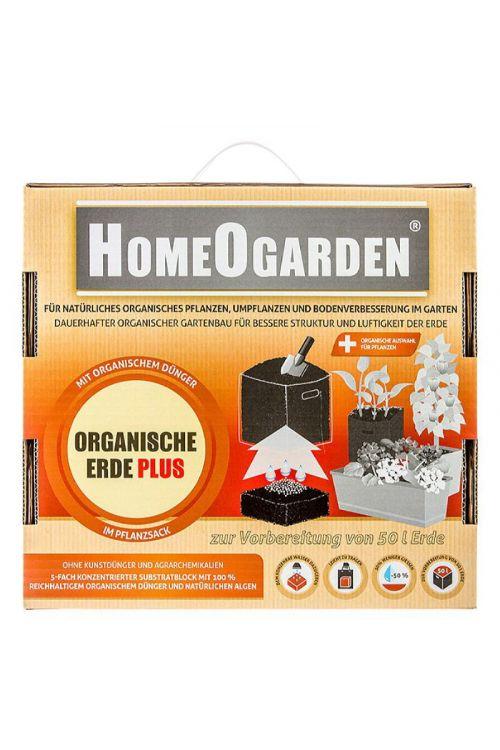 Rastni substrat HomeOgarden z gnojilom (vsebina zadošča za: 50 l zemlje)