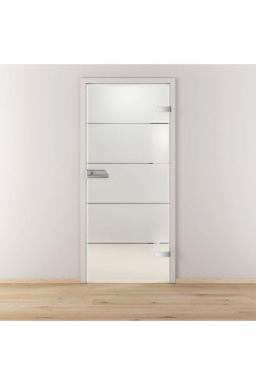 Steklena nihajna vrata Lines Positiv, Diamond Doors (kaljeno varnostno steklo (ESG), desno po DIN, dvodelni studio, 834 x 1972 mm)