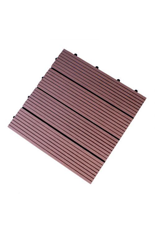 WPC klik plošča Bambus (30 x 30 cm, 0,9 m2, mocca barve)