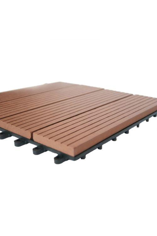 WPC klik plošča Bambus (30 x 30 cm, 0,9 m2, rjave barve)