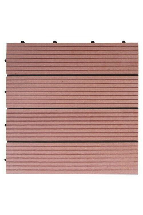 WPC klik plošča Bambus (30 x 30 cm, rjava)