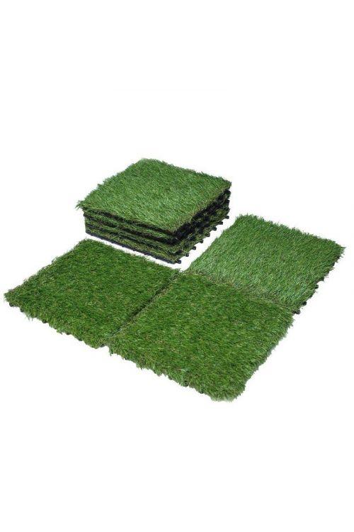 Klik plošča WPC umetna trava (30 x 30 cm, enostavno polaganje na klik sistem)