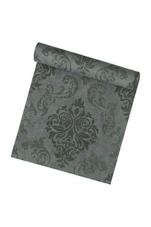 Tapeta iz netkane tekstilije AS CREATION Memory 2 (črna barva, ornamentni vzorec, 10,05 x 0,53 m)