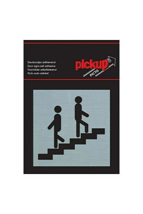 Nalepka Pickup (motiv: Stopnice, 80 x 80 mm)