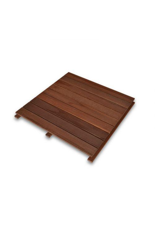 Plošča Massaranduba (d 86 x š 86 x deb. 4 cm, visoka trdnost, ne drsi, idealna za uporabo pod solarnim tušem)