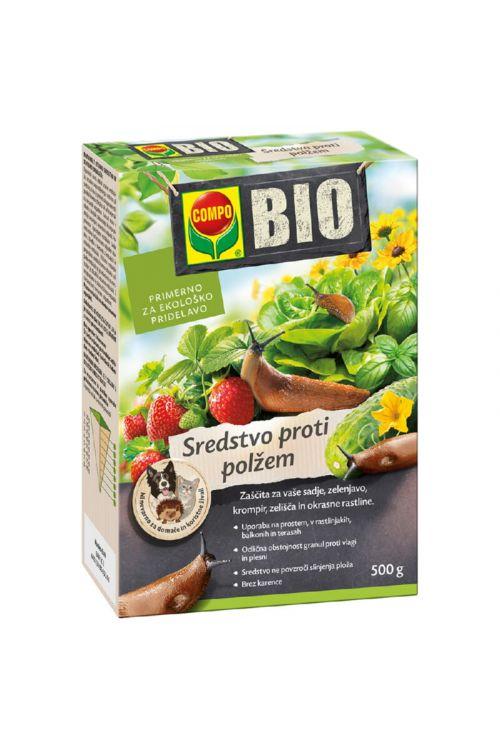 Bio sredstvo proti polžem Compo (500 g, granulat, za polže brez hišice, neškodljiv hišnim ljubljencem)