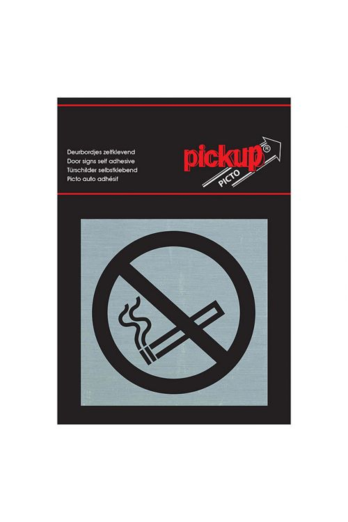 Nalepka Pickup (motiv: Prepovedano kajenje, 80 x 80 mm)